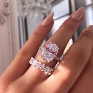 Jewelry - NEW! Silver Cubic Zirconia Engagement Ring